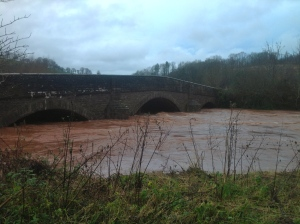 Wye in full flow at Skenfrith New Years Day