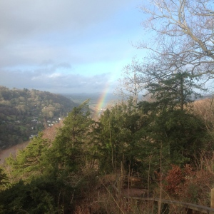 Rainbow at Symonds Yat