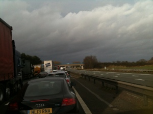 M6 queue at a standstill