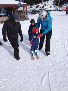 First skiing lesson of the year